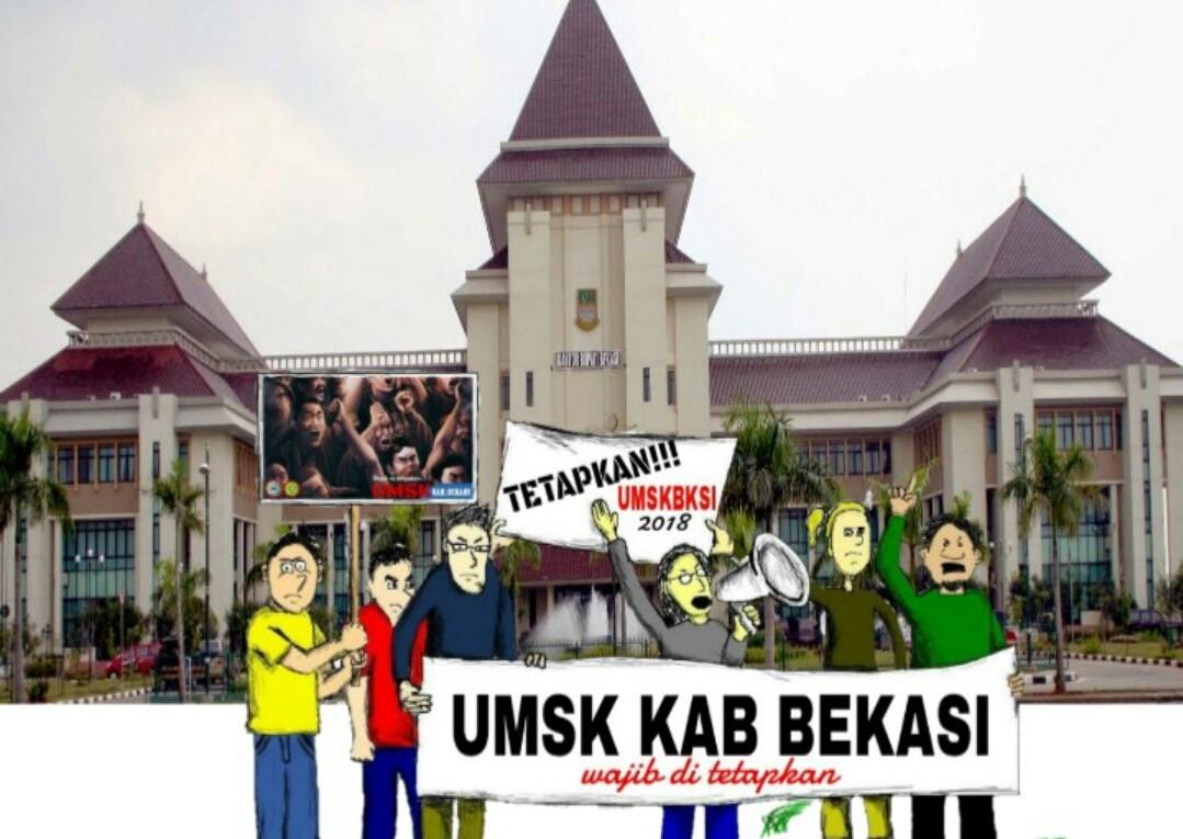 Photo of PEKERJA BEKASI BERSATU MENUNTUT UMSK 2018