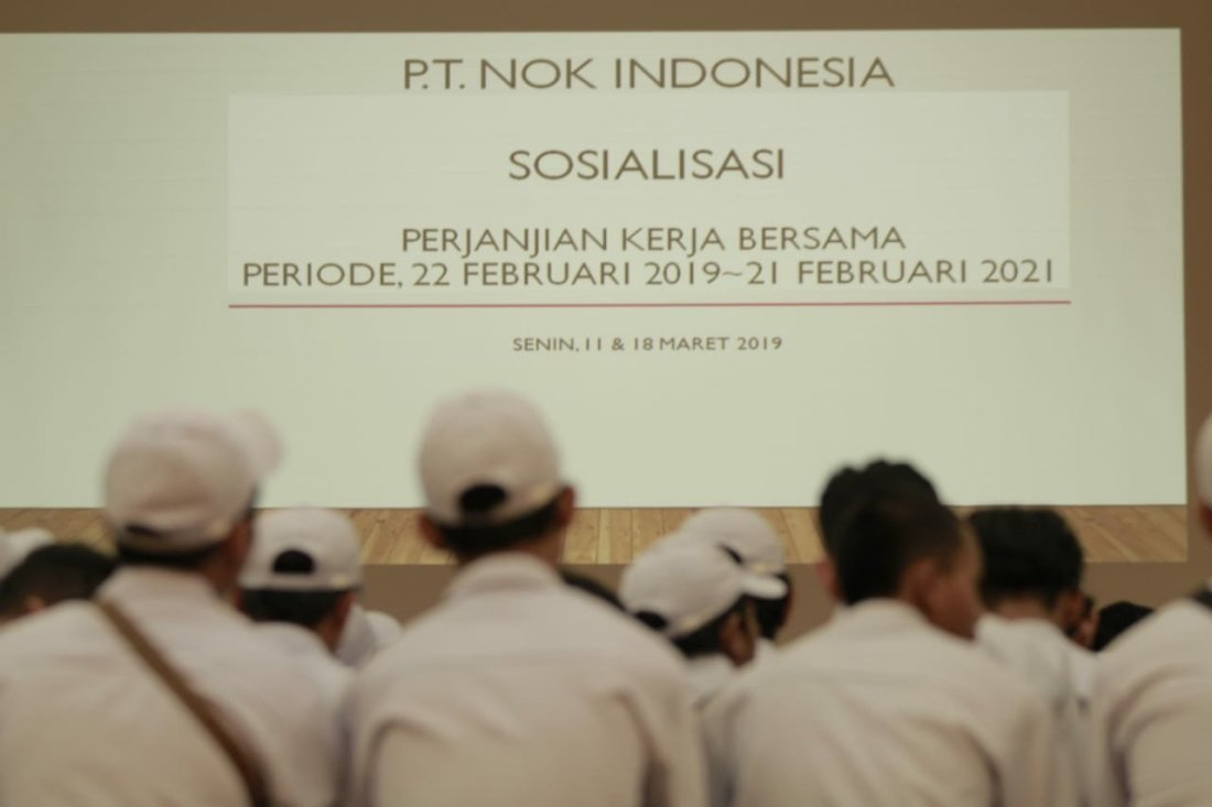 Photo of ADA APA DISOSIALISASI PKB PT. NOK INDONESIA?