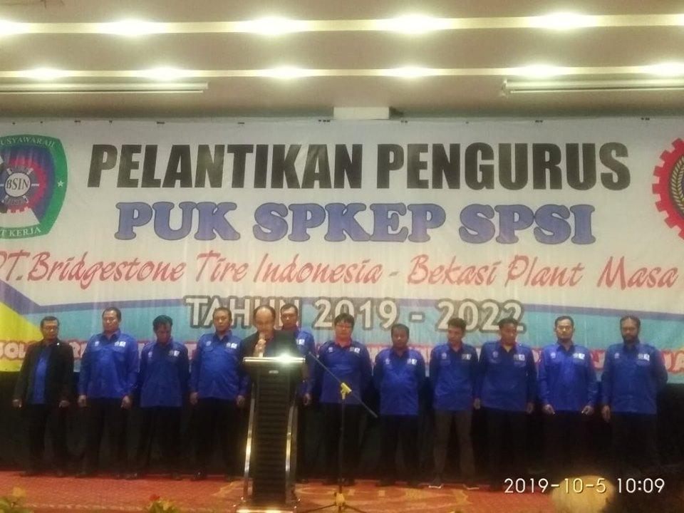 Photo of ZEN MUTOWALI S.H KEMBALI TERPILIH SEBAGAI KETUA PUK SPKEP SPSI PT. BRIDGESTONE TIRE INDONESIA BEKASI PLAN