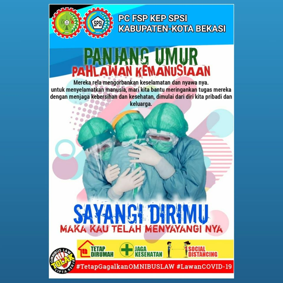Photo of Serikat Pekerja mengambil peran dalam pencegahan penyebaran Covid 19 (PC FSP KEP SPSI Bekasi)